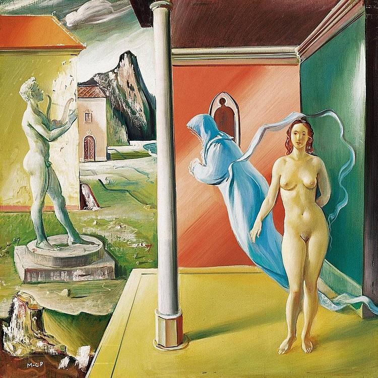 Molnár C. Pál: 1894 - 1981: Allegory: 50×50 cm:
