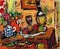 Czóbel Béla: 1883 - 1976: Still life with red jug:, Bela Czobel, Click for value
