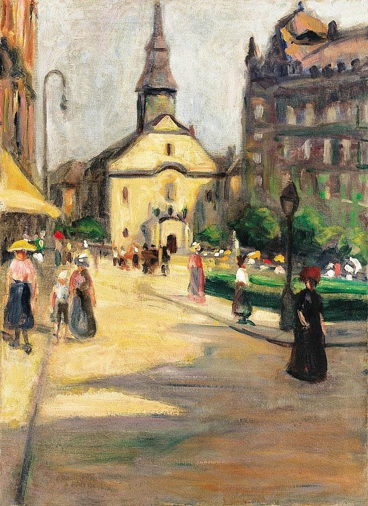 Színes Elemér: 1886 - ?: Ferenciek square, 1910's: