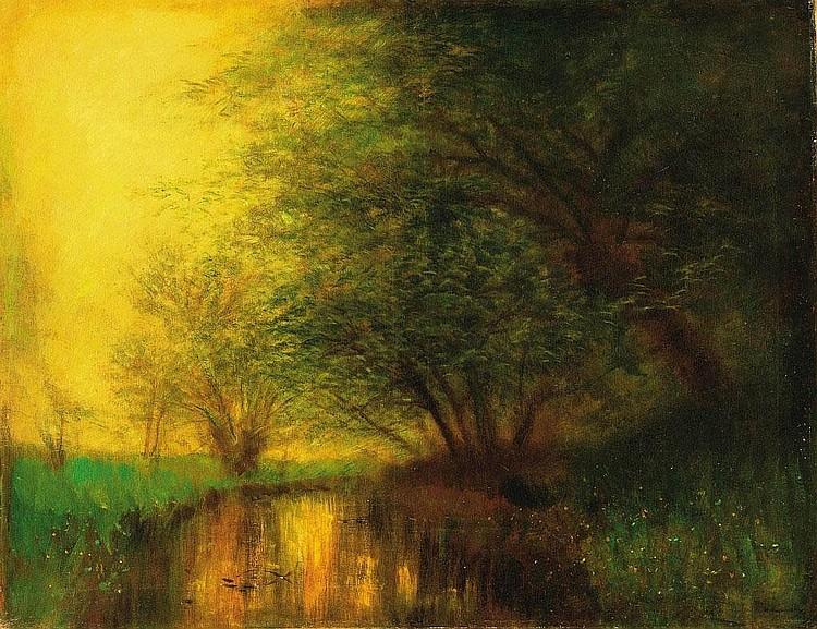 Mednyánszky László: 1852 - 1919: By the riverside: