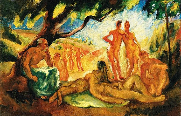 Szonyi István: 1894 - 1960: Nudes in the open-air