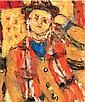 Czóbel Béla: 1883 - 1976: Man leaning on his, Bela Czobel, Click for value