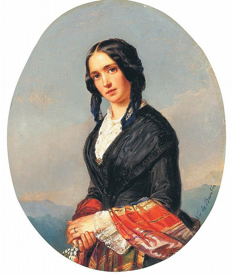Barabás Miklós: 1810 - 1898: Italian girl: d: