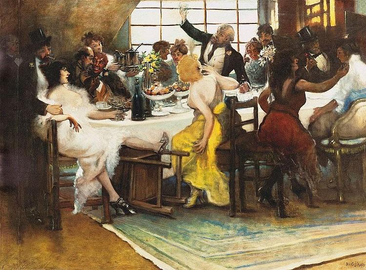 Berkes Antal: 1874 - 1938: Bohemian life, 1910: