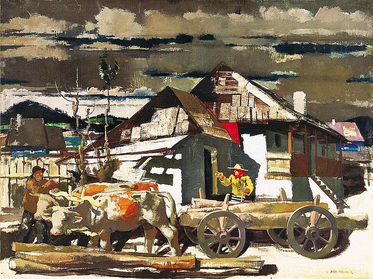 Aba-Novák Vilmos: 1894 - 1941: Courtyard in