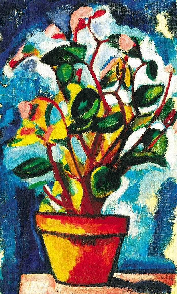 Czóbel Béla: 1883 - 1976: Still life of flowers,