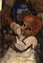 Children with Grandmother (The Blue Mug)