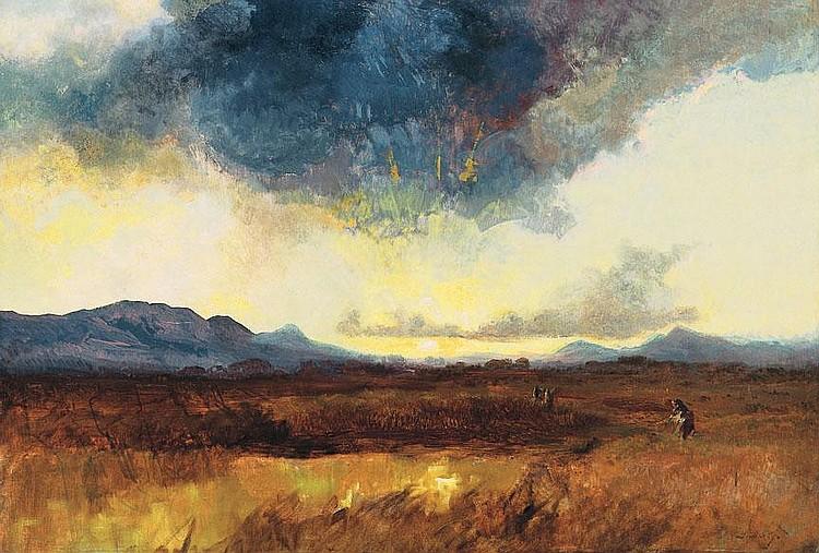 Brodszky Sándor 1819-1901 Stormy Landscape