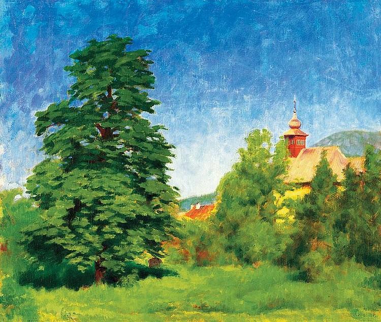 Tagyosi Rácz Péter 1879-1945 Landscape in