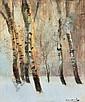 Mednyánszky László 1852-1919 Winter Forest 30,5×26, Laszlo Mednyanszky, Click for value