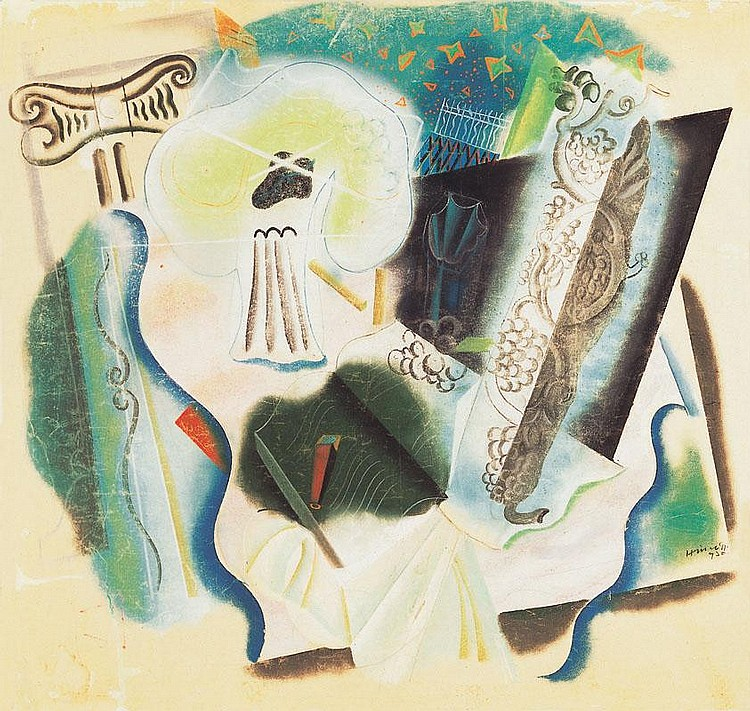 Hincz Gyula 1904-1986 Composition, 1920 98×103 cm
