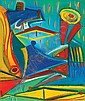 Hincz Gyula 1904-1986 Abstract Composition 50×61, Gyula Hincz, Click for value