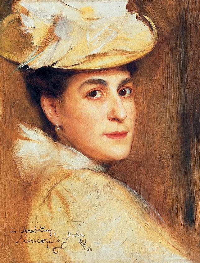 László Fülöp 1869-1937 Portrait of a Lady with Hat