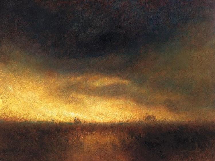 Mednyánszky László 1852-1919 Landscape at Dusk