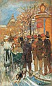 Berkes Antal 1874-1938 Evening Lights on the Grand, Antal Berkes, Click for value