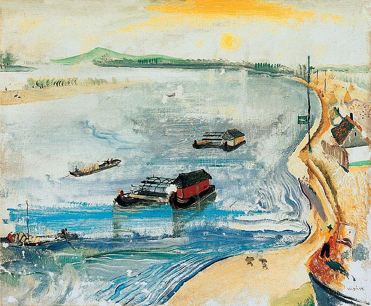 Vadász Endre 1901-1944 Painter by the Riverside
