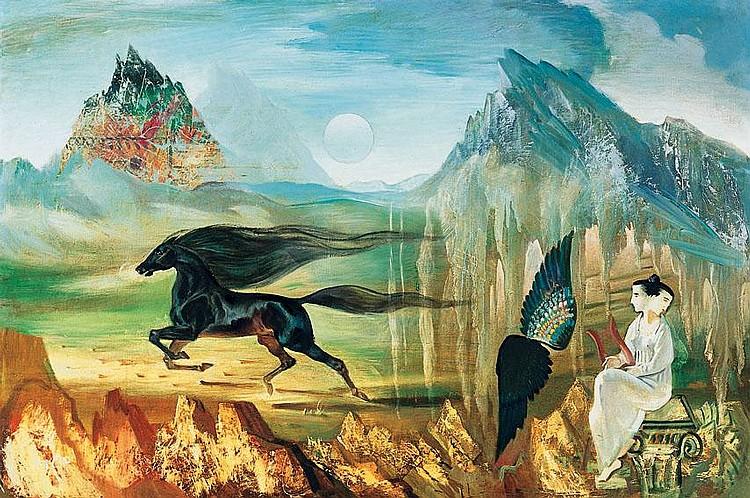 Molnár C. Pál 1894-1981 Memory (Full Moon) 80×122