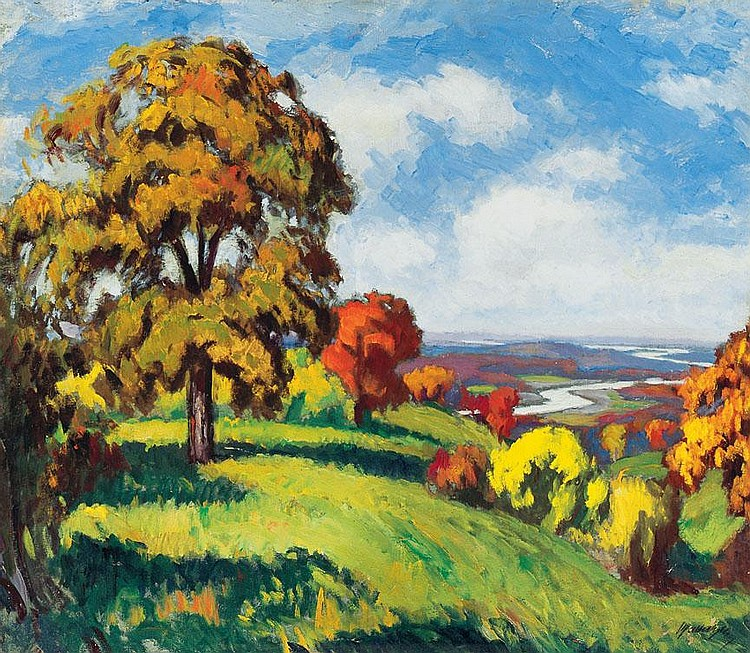 Balla Béla 1882-1965 Autumn Blaze (Transsylvanian