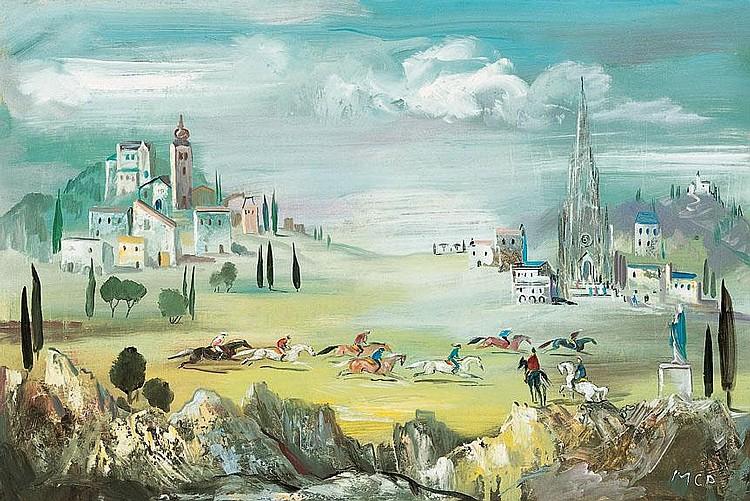 Molnár C. Pál 1894-1981 Italian Landscape
