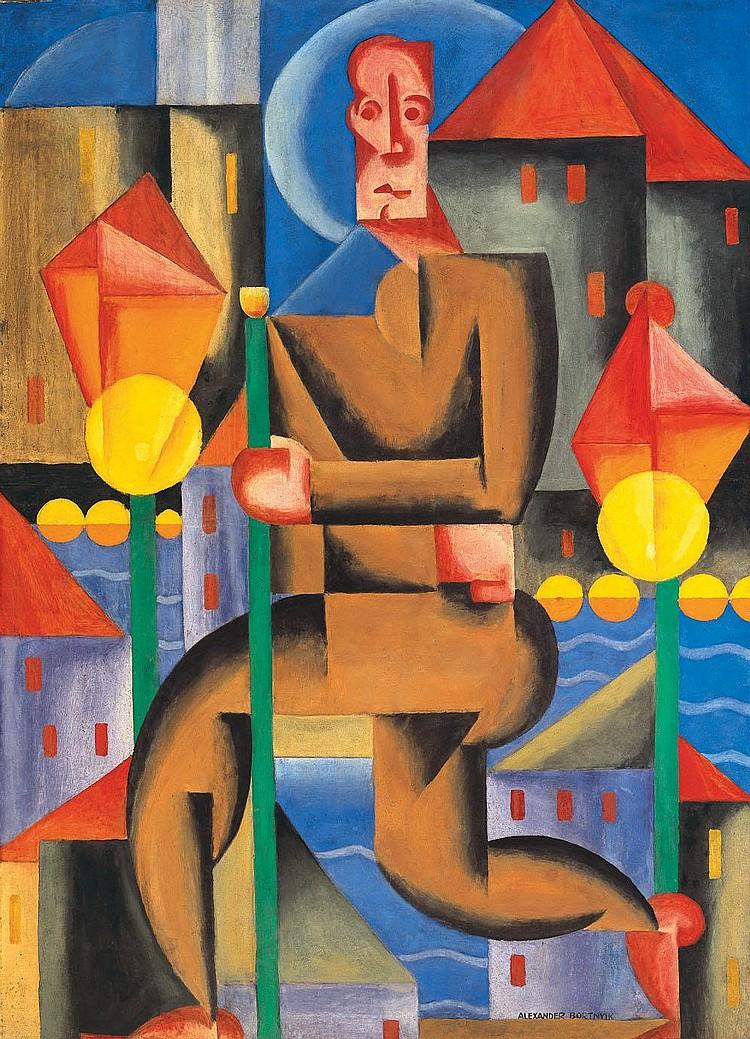 Bortnyik Sándor 1893-1976 Lamplighter, 1921 124×90