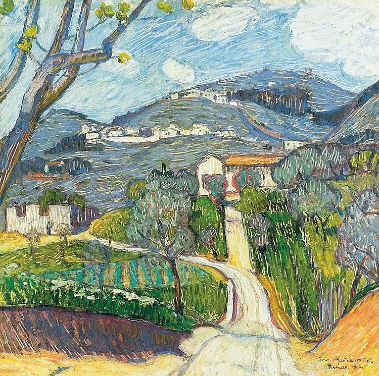 Iványi Grünwald Béla 1867-1940 Spring (Landscape