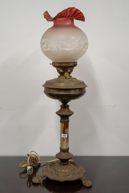 Edwardian Kerosene Table Lamp