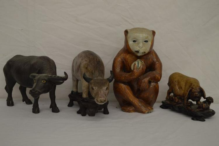 Stone Animal Figures : Chinese animal figures porcelain and one stone quot s