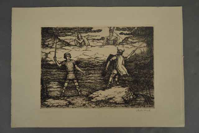 CHESTER LEICH PENCIL SIGNED ETCHING