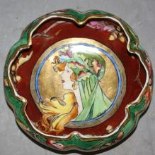 German Hohenzollern porcelain portrait bowl. Artist signed G. Eamonde 3