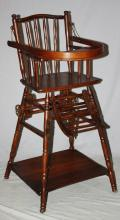 American convertible high chair. Early 20th century.