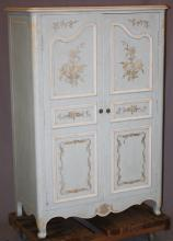 John Widdicomb painted French Provincial wardrobe with interior drawers. . 56