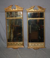 Pair of Italian companion giltwood mirrors. Circa 1930's