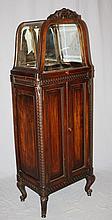 French Louis XVI mahogany glass top display case