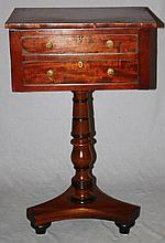 William IV mahogany work table
