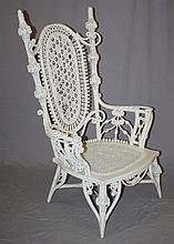 American Victorian Heywood Wakefield wicker chair