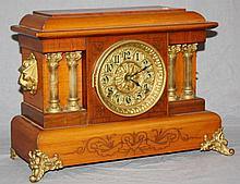 Seth Thomas mantel clock with lion head mounts