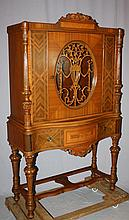 American music cabinet on legs with inlay