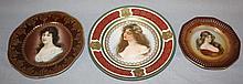Lot of 3 porcelain portrait plates