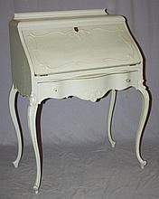 Victorian fall front desk painted white