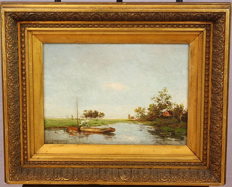 Cornelius Vreedenburgh oil on board landscape