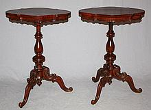 Pair of Mahogany Victorian side tables
