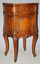 French Louis XV bombe commode in walnut