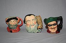 Lot of 3 Royal Doulton Toby character mugs