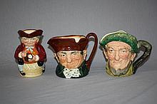 Lot of 3 Royal Doulton Toby mugs