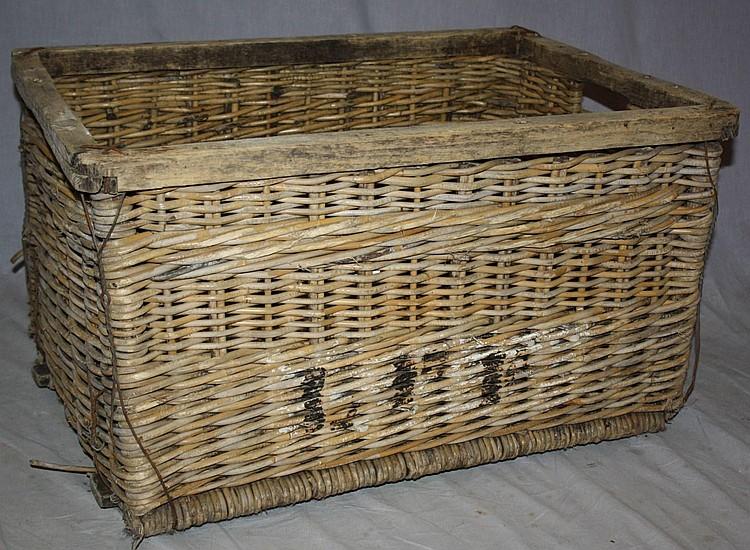 French wicker champagne grape basket