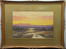 Arthur Suker (British, 1857-1902), Evening in Dart