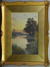 Arthur Suker (British, 1857-1902), Evening On The