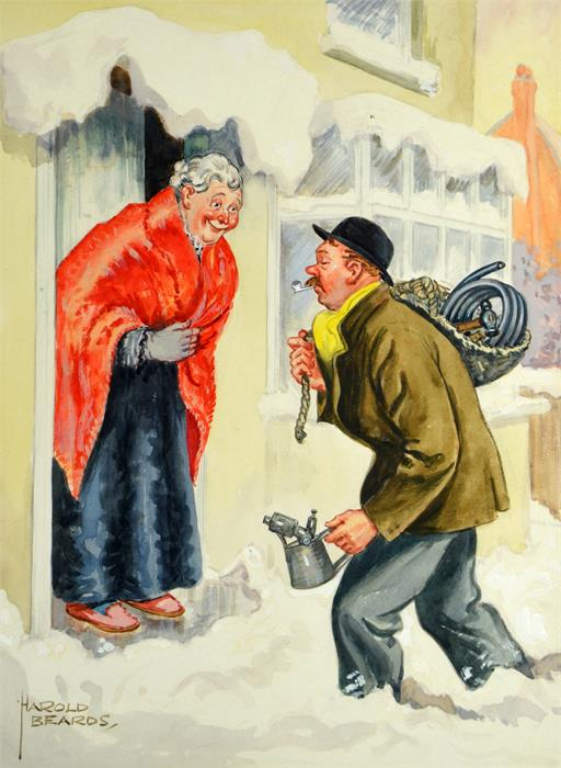 Harold Beards (British, b.1895), 'Temperature Below Freezing - Thaw Expecte