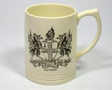 A Wedgwood, Arms of the City of London, Keith Murray designed heraldic pint