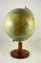 A globe made in Germany, circa 1938. Made after the German occupation of Au